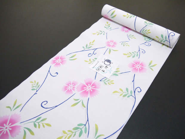<本格派レディースゆかた>日本橋 竺仙鑑製 コーマ白地 注染 女性用 高級浴衣【お仕立代込み&送料無料】日本製  綿100% ちくせん ※仕立ての段階に入ってからのキャンセル等はお断り致します。※反物での販売も行なっております。