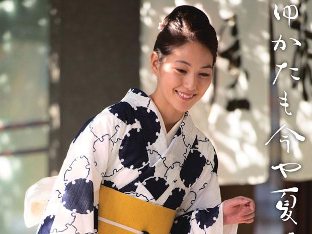 <本格派レディースゆかた>日本橋 竺仙鑑製 綿絽白地 注染 女性用 高級浴衣【お仕立代込み&送料無料】日本製 ちくせん 白色 雪輪繋ぎ 綿100% 仕立ての段階に入ってからのキャンセル等はお断りします。反物での販売も行なっています。