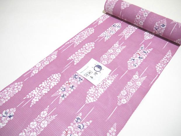 <本格派レディースゆかた>日本橋 竺仙鑑製 紅梅小紋 綿紅梅 女性用 高級浴衣【お仕立代込み&送料無料】日本製 ちくせん 反物 綿100% ※仕立ての段階に入ってからのキャンセル等はお断り致します。※反物での販売も行なっております。