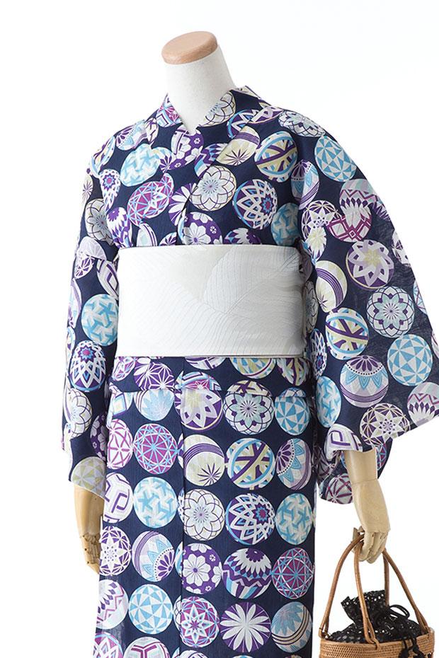 <撫松庵レディース浴衣>お仕立済 新装大橋謹製 綿経スラブ 綿100% 女性用 ブランドゆかた【送料無料&代引料無料】プレタゆかた お仕立て上がり浴衣 BUSHOAN ぶしょうあん 生地と染めは日本 日本製