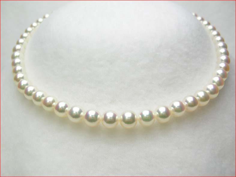 ピンクの花珠あこや真珠ネックレス7.5-8ミリ 【tokai1106sale】