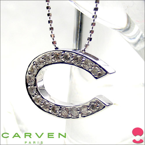 CARVEN(カルバン) ダイヤモンドペンダント K18WG