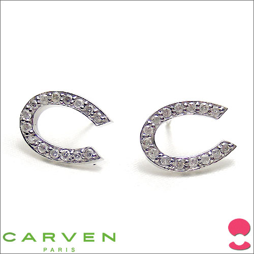 CARVEN(カルバン) K18WG ダイヤモンドピアス