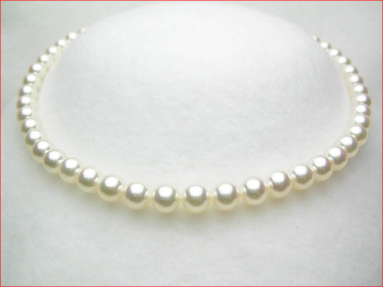 7.5-8ミリ 越物の厚マキ テリあり キズのきわめて少ない あこや真珠ネックレス そんなにたくさん出せません!! 0619PUP10JU