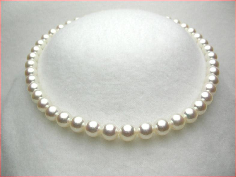 蔵 卓出 アコヤ9ミリ以上は今後 大変稀少になっていきます 高品質なお品をお買い得価格でお求めできるチャンス t-sale0210-0212 あこや真珠ネックレス 稀少9-9.5ミリ