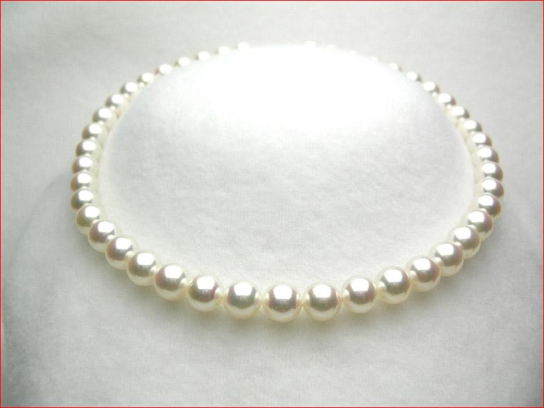 稀少9-9.5ミリあこや真珠ネックレス 0619PUP10JU