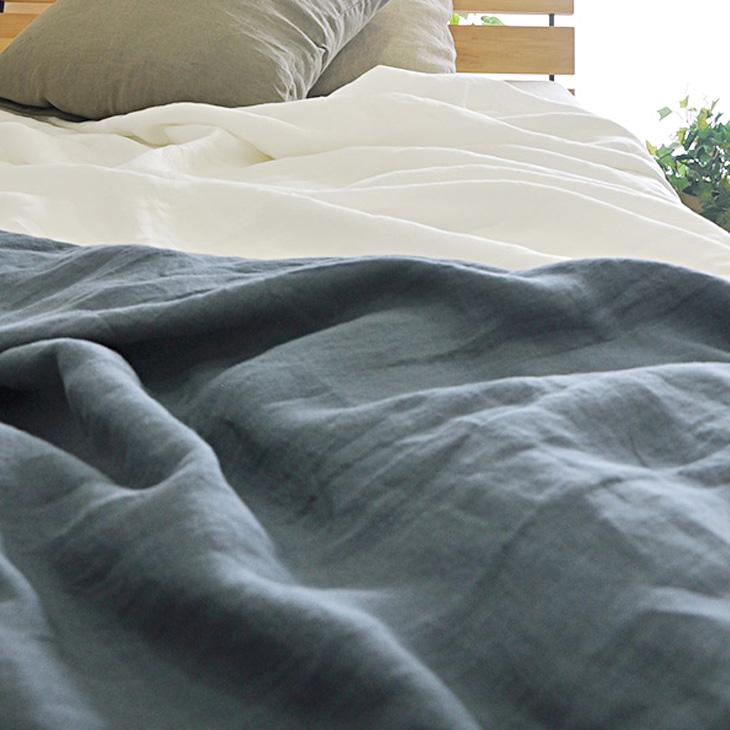 【ポイント】【10,800円以上送料無料】 ボックスシーツ ダブル 京はんなリネン 無地 麻 日本製 NIPPON LINEN サイズオーダー可 京都で縫製 【綿 布団カバー 寝具 生地】