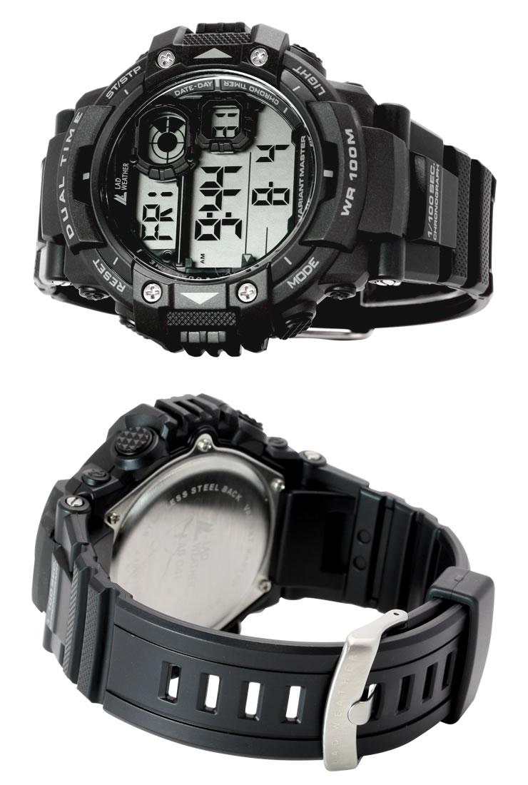 e82a8b7a0e トリプルタイム搭載迫力のミリタリーウォッチデジタル腕時計メンズ時計100m防水プレゼントギフトブランド