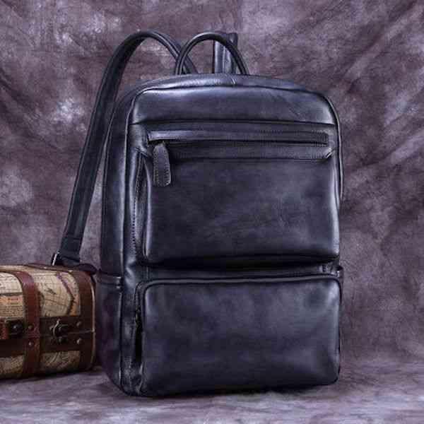 リュックサック リュック レザー 本革 メンズ 軽量 大容量 旅行 カジュアル 通学 通勤 キャンパス 黒 バック カバン 鞄 かばんbag bag-1001 【予約商品】