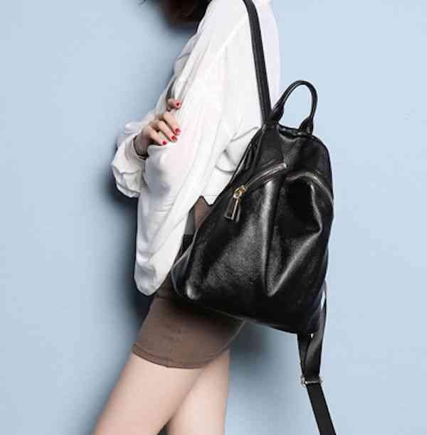 リュックサック レディース レザー 本革 リュック 大容量 バッグ カジュアル 軽量 通学 通勤 キャンパス 黒 バック カバン 鞄 かばんbag bag-1026