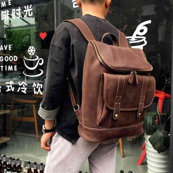リュックサック リュック レザー 本革 軽量 キャンパス 旅行 通学 通勤 かばん カバン 大容量 鞄 黒 バック カジュアル メンズ 予約商品
