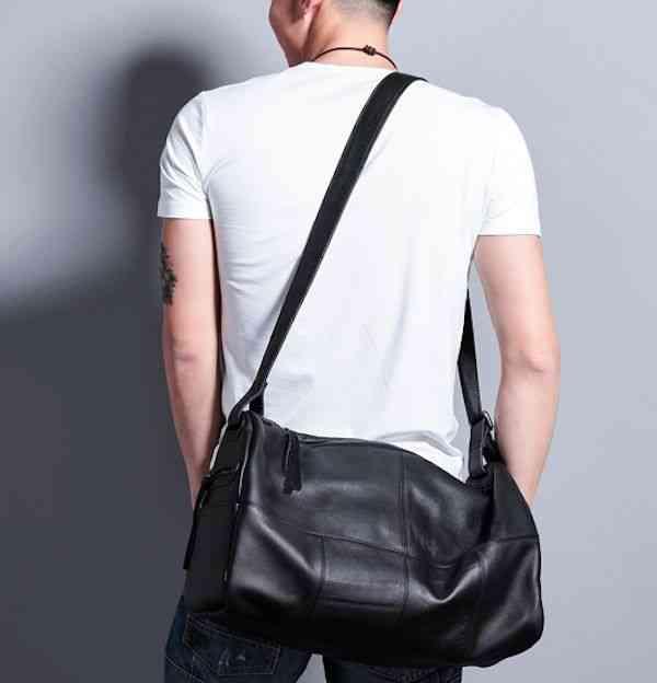 ショルダーバッグ メンズ レザー 本革 カジュアル メッセンジャーバッグ 斜めがけバッグ 通学 通勤 軽量 旅行 斜め掛け 黒 バック カバン 鞄 bag-1148