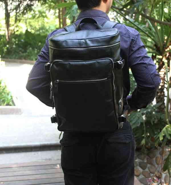 リュックサック リュック レザー 本革 メンズ 軽量 大容量 旅行 カジュアル 通学 通勤 キャンパス 黒 バック カバン 鞄 かばんbag bag-115