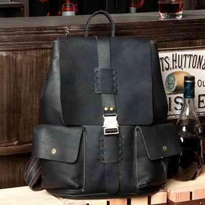 リュックサック リュック レザー 本革 メンズ 軽量 大容量 カジュアル 旅行 通学 通勤 キャンパス 黒 バック カバン 鞄 かばんbag bag-117