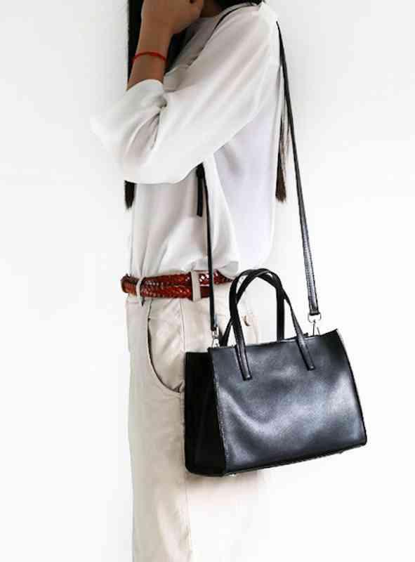 ハンドバッグ ショルダーバッグ レディース レザー 本革 斜めがけバッグ 大容量 軽量 通学 通勤 軽量 旅行 斜め掛け 黒 バック カバン 鞄 bag-1177 【予約商品】