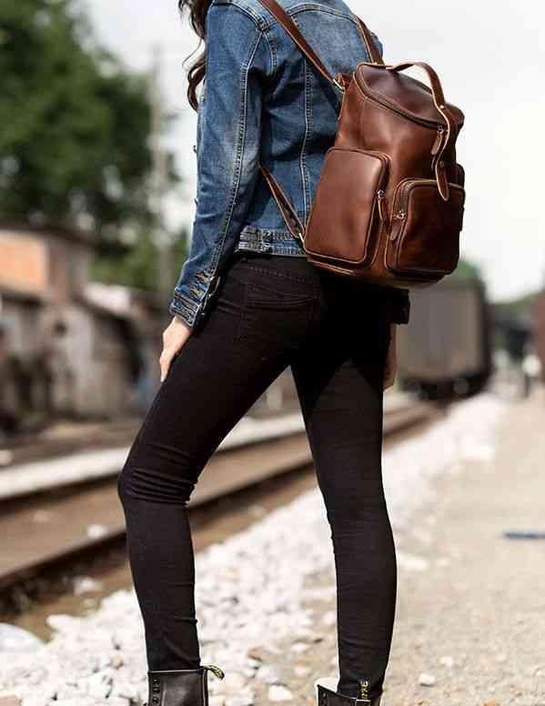リュックサック リュック レザー 本革 メンズ 軽量 大容量 旅行 カジュアル 通学 通勤 キャンパス 黒 バック カバン 鞄 かばんbag bag-1183