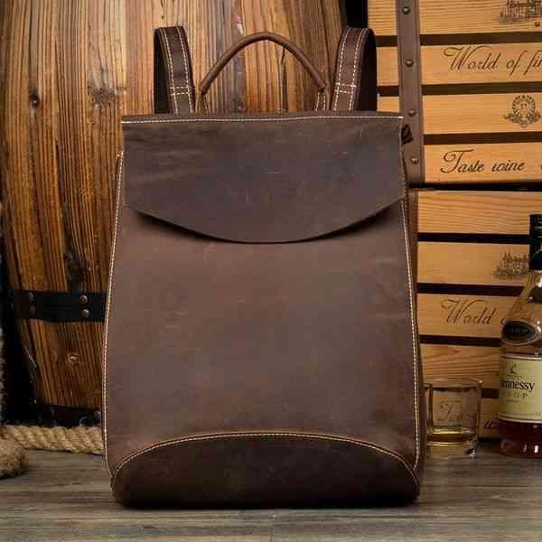 リュックサック レザー メンズ 軽量 大容量 カジュアル 旅行 リュック 本革 通学 通勤 キャンパス 黒 バック カバン 鞄 かばんbag bag-1186