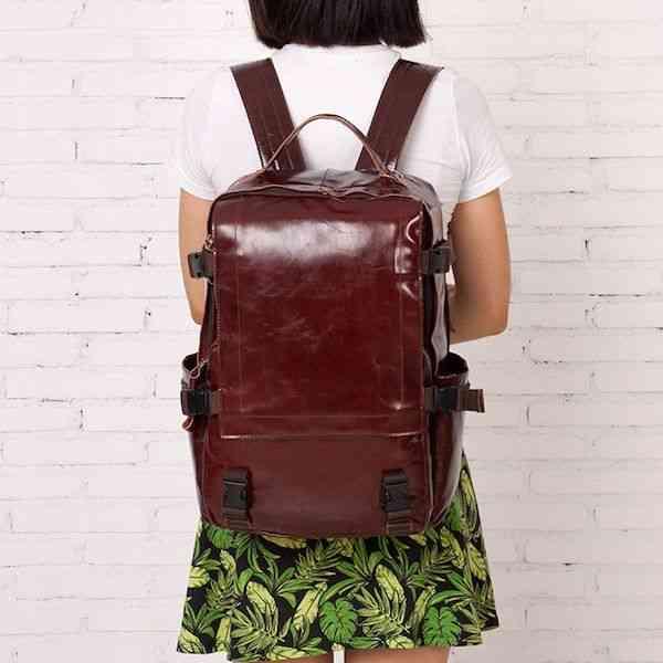 リュックサック リュック レザー 本革 メンズ 軽量 大容量 旅行 カジュアル 通学 通勤 キャンパス 黒 バック カバン 鞄 かばんbag bag-1187 【予約商品】