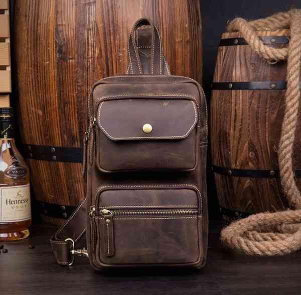ボディバッグ メンズ レザー 本革 斜めがけバッグ ワンショルダーバッグ 軽量 小物 通学 軽量 旅行 斜め掛け 黒 バック カバン 鞄 小さめ bag-1209