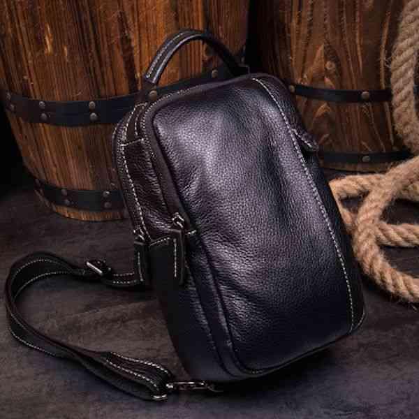 ボディバッグ メンズ レザー 本革 斜めがけバッグ 軽量 ワンショルダーバッグ 小物 通学 軽量 旅行 斜め掛け 黒 バック カバン 鞄 小さめ bag-1217