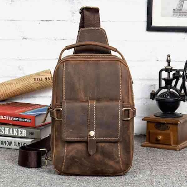 ボディバッグ ワンショルダーバッグ 軽量 小物 メンズ レザー 斜めがけバッグ 本革 通学 軽量 旅行 斜め掛け 黒 バック カバン 鞄 小さめ bag-1225