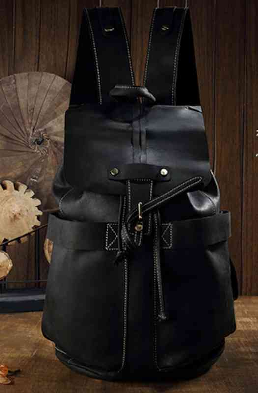 リュックサック リュック レザー 本革 メンズ 軽量 大容量 カジュアル 旅行 通学 通勤 キャンパス 黒 バック カバン 鞄 かばんbag bag-1233