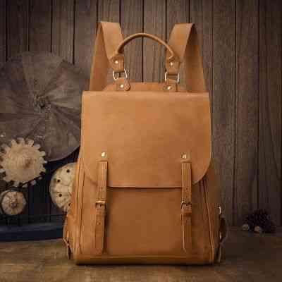 リュックサック リュック レザー 本革 メンズ 軽量 大容量 旅行 カジュアル 通学 通勤 キャンパス 黒 バック カバン 鞄 かばんbag bag-1235