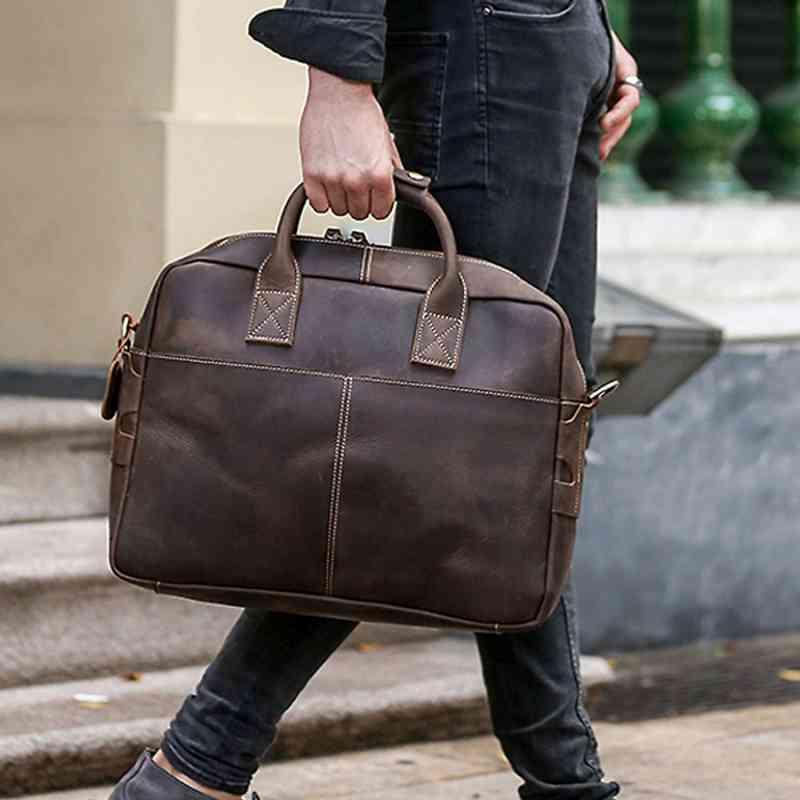 ビジネスバッグ 本革 ブリーフケース レザー メンズ 斜めがけ A4 ショルダー 軽量 通勤 斜め掛け 黒 バック カバン 鞄 かばん bag bag-885 【予約商品】