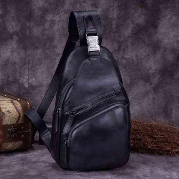 ボディバッグ メンズ レザー 本革 斜めがけバッグ ワンショルダーバッグ 軽量 小物 通学 軽量 旅行 斜め掛け 黒 バック カバン 鞄 小さめ bag-986 【予約商品】