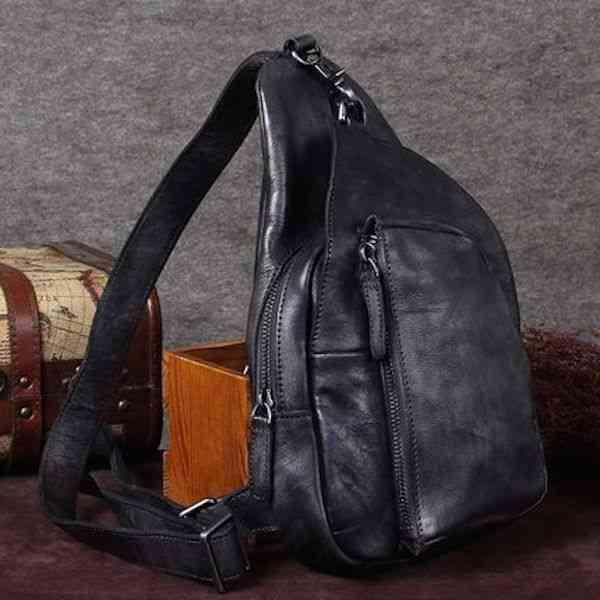 ボディバッグ メンズ レザー 本革 斜めがけバッグ 軽量 ワンショルダーバッグ 小物 通学 軽量 旅行 斜め掛け 黒 バック カバン 鞄 小さめ bag-988
