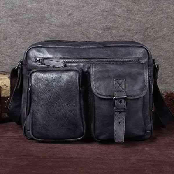ショルダーバッグ メンズ レザー 本革 カジュアル メッセンジャーバッグ 斜めがけバッグ 通学 通勤 軽量 旅行 斜め掛け 黒 バック カバン 鞄 bag-997