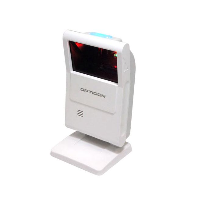 定置式 二次元バーコードリーダー M-10-RS232C-WHT, RS232C接続, 液晶画面読み取り, 抗菌, 超小型, GS1 DataBar, オプト, OPTICOM ウェルコムデザイン