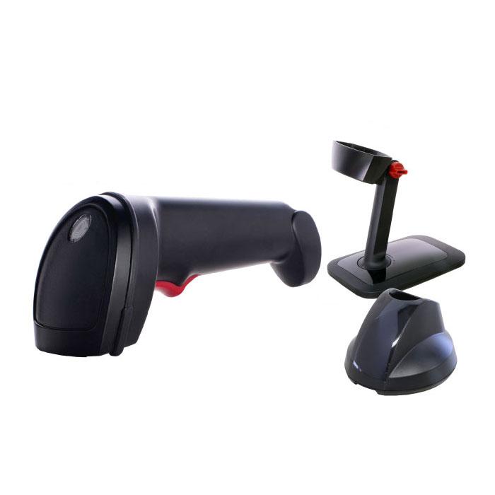 コードレスロングレンジCCDリーダー SG600BT (黒) USB充電クレードル 専用スタンドセット Bluetoothバーコードリーダー ウェルコムデザイン【スーパーエコノミーシリーズ】