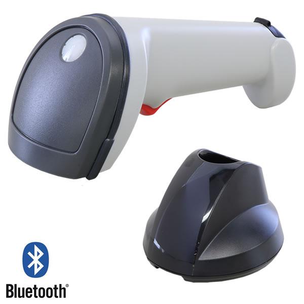 バーコードリーダー SG600BT-WHT-R Bluetooth無線 RS232Cクレードルセット ロングレンジCCD ウェルコムデザイン 【スーパーエコノミーシリーズ】