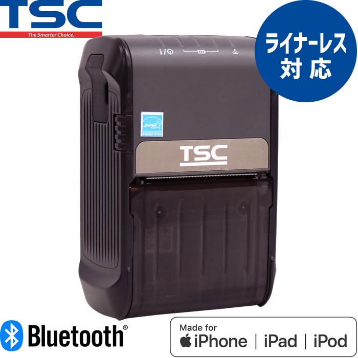 サーマルモバイルラベルプリンター Alpha-2R ライナーレス対応 Bluetooth USB接続 MFi認証モデル TSC ウェルコムデザイン