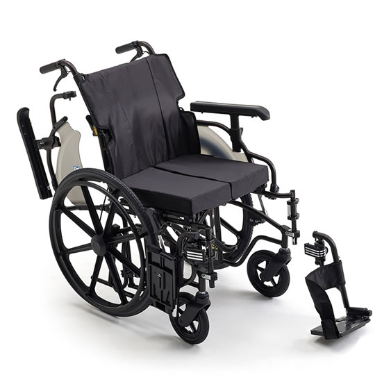 車椅子 自走用 MIKI ミキ ビッグサイズ KJPシリーズ KJP-5 | ノーパンク モジュール 耐荷重130kg