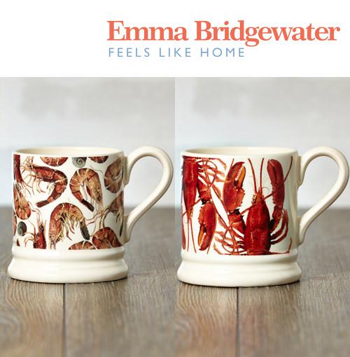 エマブリッジウォーター Emma Bridgewater シェルフィッシュ 2個 セット マグ ペア カップ 陶器 英国製 約300ml ボックス付き 箱 ブランド えび ロブスター プレゼント ギフト プレゼント コーヒー プレゼント ギフト 新生活 新居 引越し祝い 新築 子供