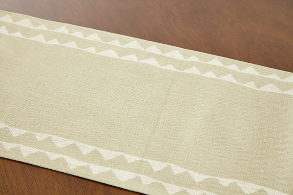 Table Runner Norse Olive Lace Jubilee United Kingdom Design 183 × 30  Handmade Hemp Linen Water