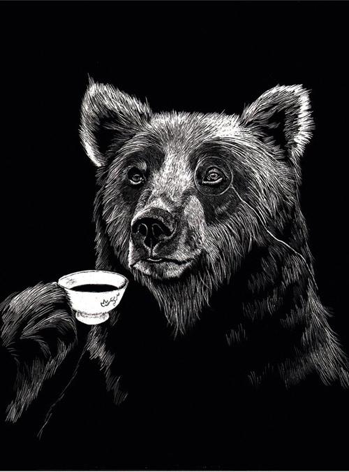 ジムボバート Jimbobart A4 アートプリント Mr Bear 250枚限定 直筆サイン入り 絵画 インテリア おしゃれ 北欧 プレゼント ギフト 新生活 新居 引越し祝い 新築 子供
