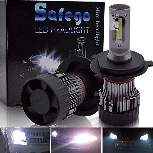 H4 LED 車検対応 車用 ヘッドライト 電球 キット - Safego 60W(30Wx2) 10000ルーメン Hi/Lo 高輝度 LED チップ搭載 LEDバルブ 変換 キット 12v 置き換 車 ハロゲン ライト HID 電球 MiniHL-H4