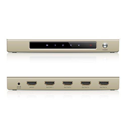 HDMI分配器 1入力4出力 4Kx2K HDMI スプリッター DVD Satellite Cable Box PC Xbox PS4に対応