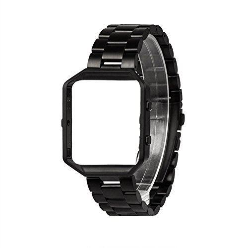Fitbit Blaze バンド+フレーム,Wearlizer Fitbit blaze ステンレスバンド フレーム 腕時計ベルト 金属工具付