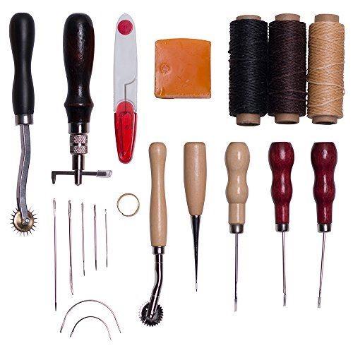 レザーツール レザークラフト 14点セット 皮革工具 手縫い 革工具セット DIY 手作り裁縫 道具