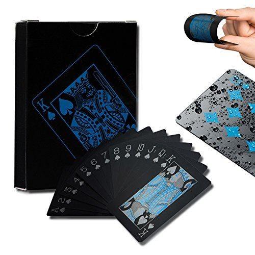 トランプ 一つデック黒い色 セール価格 防水樹脂製 フレックスカード 並行輸入品 楽しいように NEW