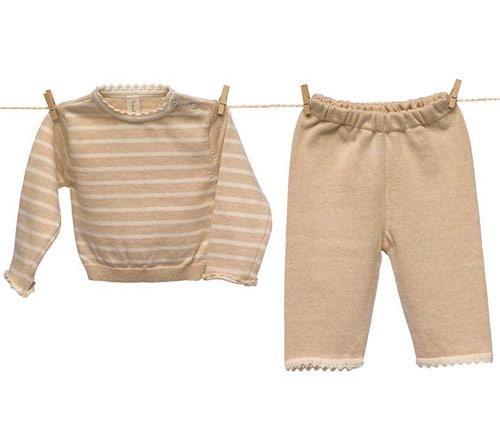 NATURAPURA(ナチュラプラ) オーガニックコットン100%セーターとパンツのセット