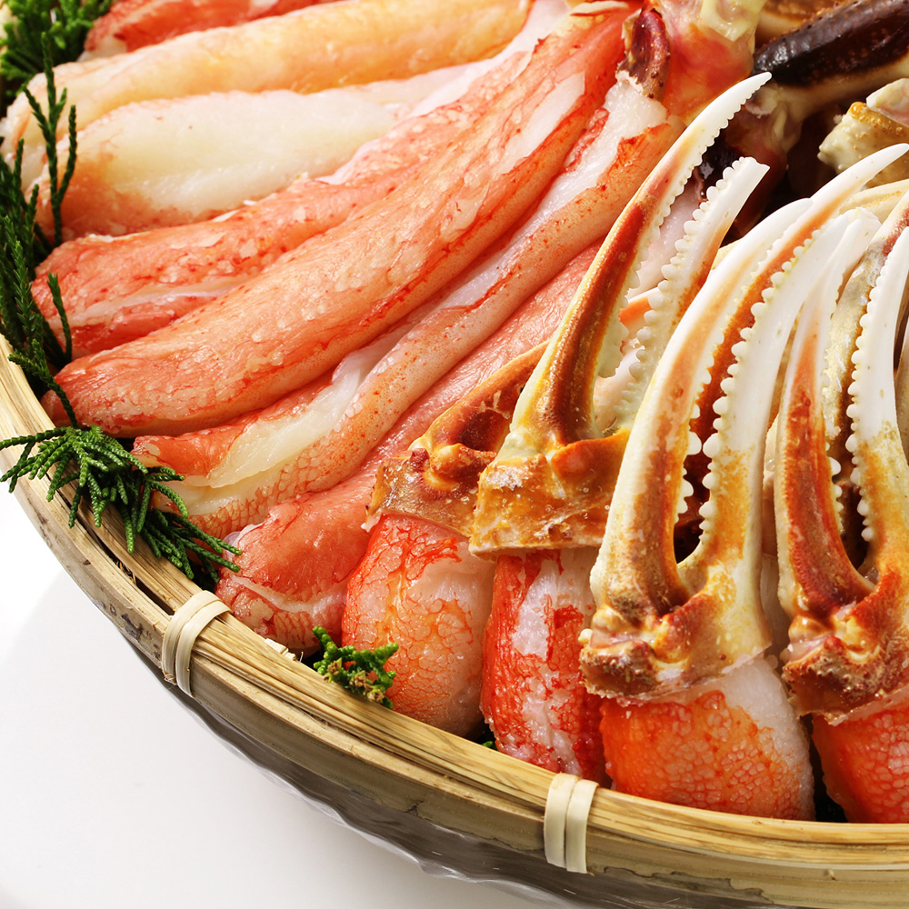 【高鮮度 生食可 カット済】ズワイガニハーフポーション1.2kg