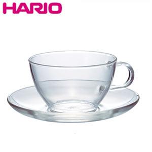 耐熱ガラス製のティーカップとソーサーのセット お茶 送料無料激安祭 緑茶 紅茶 ティー キッチン雑貨 ソーサー ハリオ TCSN-1T ガラス HARIO 爆買いセール 耐熱ティーカップ