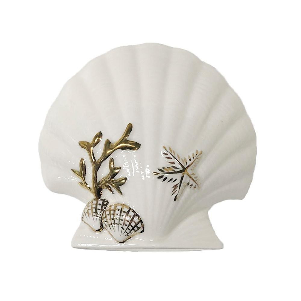 貝殻風のデザインの歯ブラシスタンドです 洗面 ハブラシ 特価 バスグッズ SENKO 792982 センコー 歯ブラシスタンド お求めやすく価格改定 ノーブルシェル ホワイト