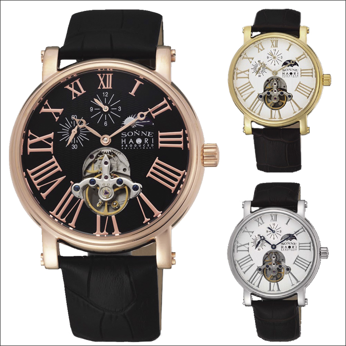 luxury wrist box chain battery life rose men winner watches without for of mechanical watch gold
