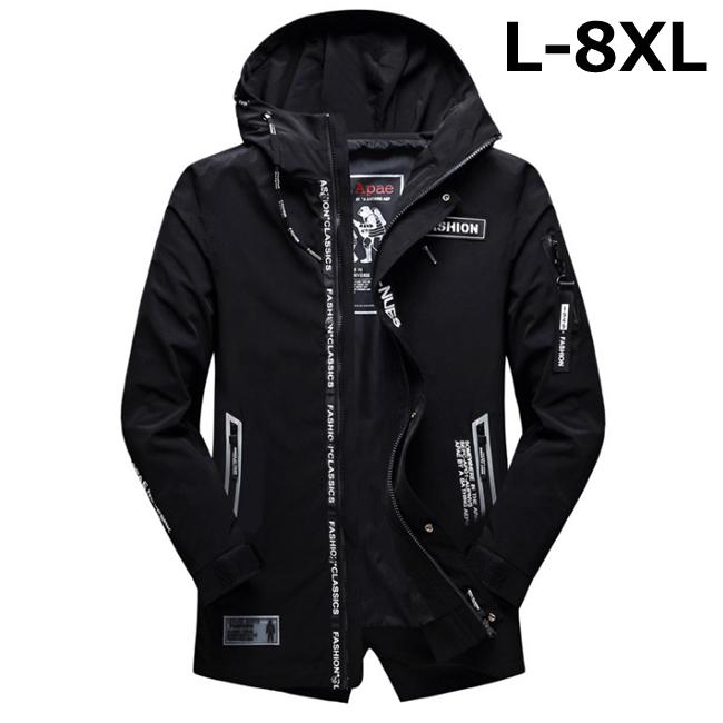 マウンテンパーカー メンズ ロングジャケット ボリュームフード スプリングコート 高価値 1年保証 ウインドブレーカー 春秋服